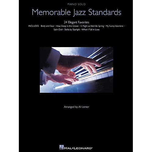 Hal Leonard Memorable Jazz Standards for Piano Solo - 24 Elegant Favorites thumbnail