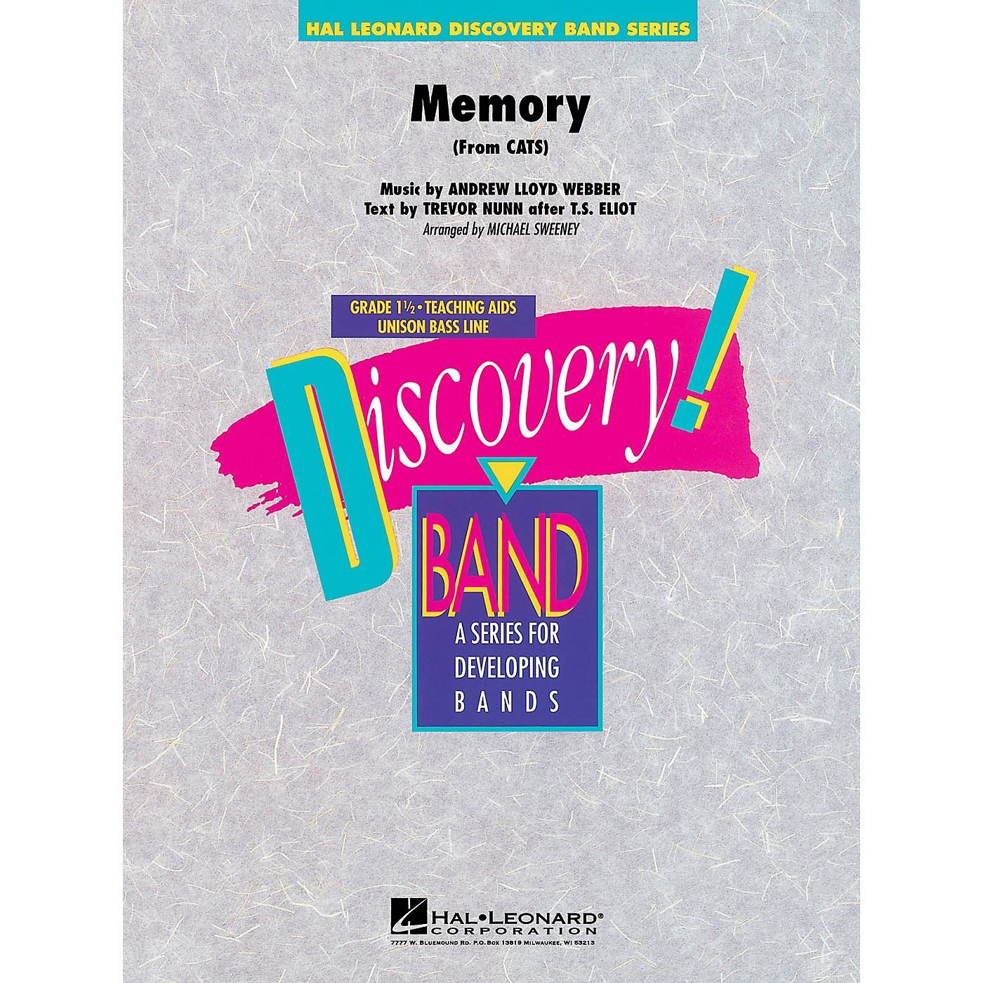 Hal Leonard Memory (from Cats) Concert Band Level 1.5 Arranged by Michael Sweeney thumbnail