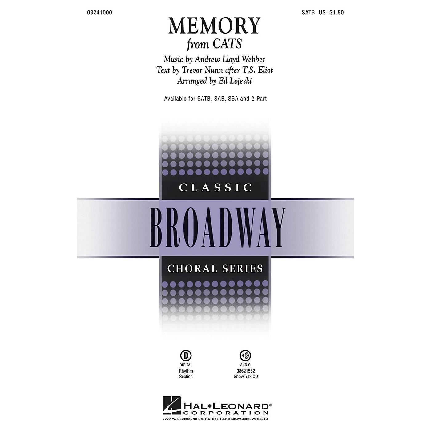Hal Leonard Memory (from Cats) SSA Arranged by Ed Lojeski thumbnail