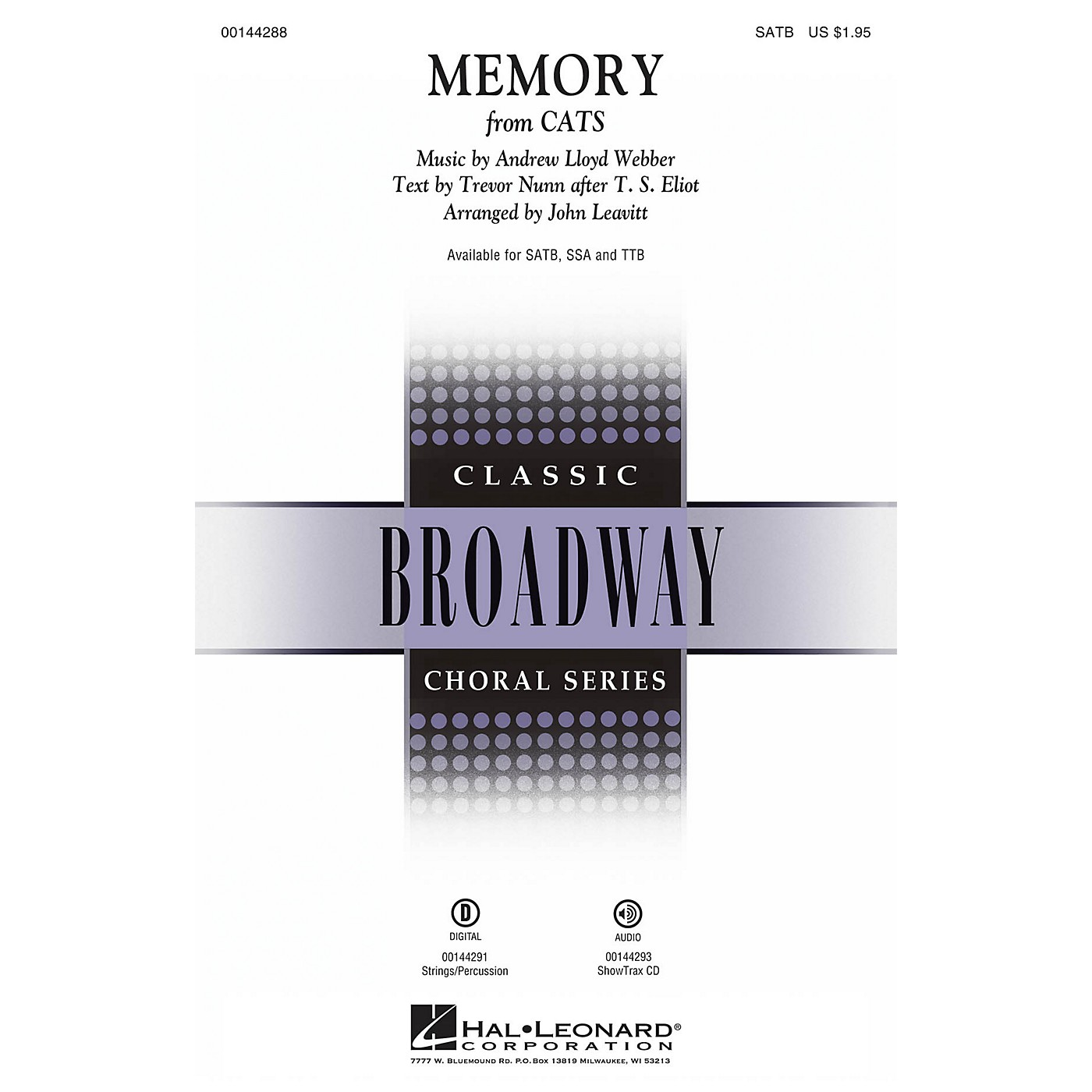 Hal Leonard Memory (from Cats) SSA Arranged by John Leavitt thumbnail