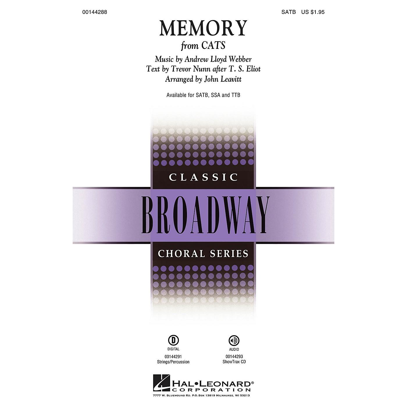 Hal Leonard Memory (from Cats) TTB Arranged by John Leavitt thumbnail