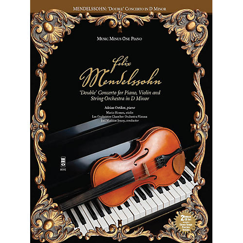 Music Minus One Mendelssohn - Double Concerto for Piano, Violin & String Orchestra in D Minor Music Minus One BK/CD thumbnail