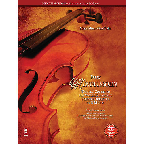 Music Minus One Mendelssohn - Double Concerto for Piano, Violin and String Orchestra in D Minor Music Minus One BK/CD thumbnail