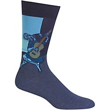 Hot Sox Men's Old Guitarist Socks
