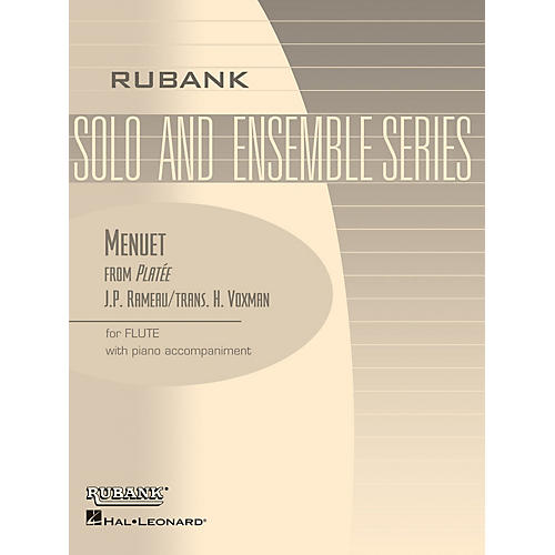 Rubank Publications Menuet from Platee (Flute Solo with Piano - Grade 2.5) Rubank Solo/Ensemble Sheet Series thumbnail