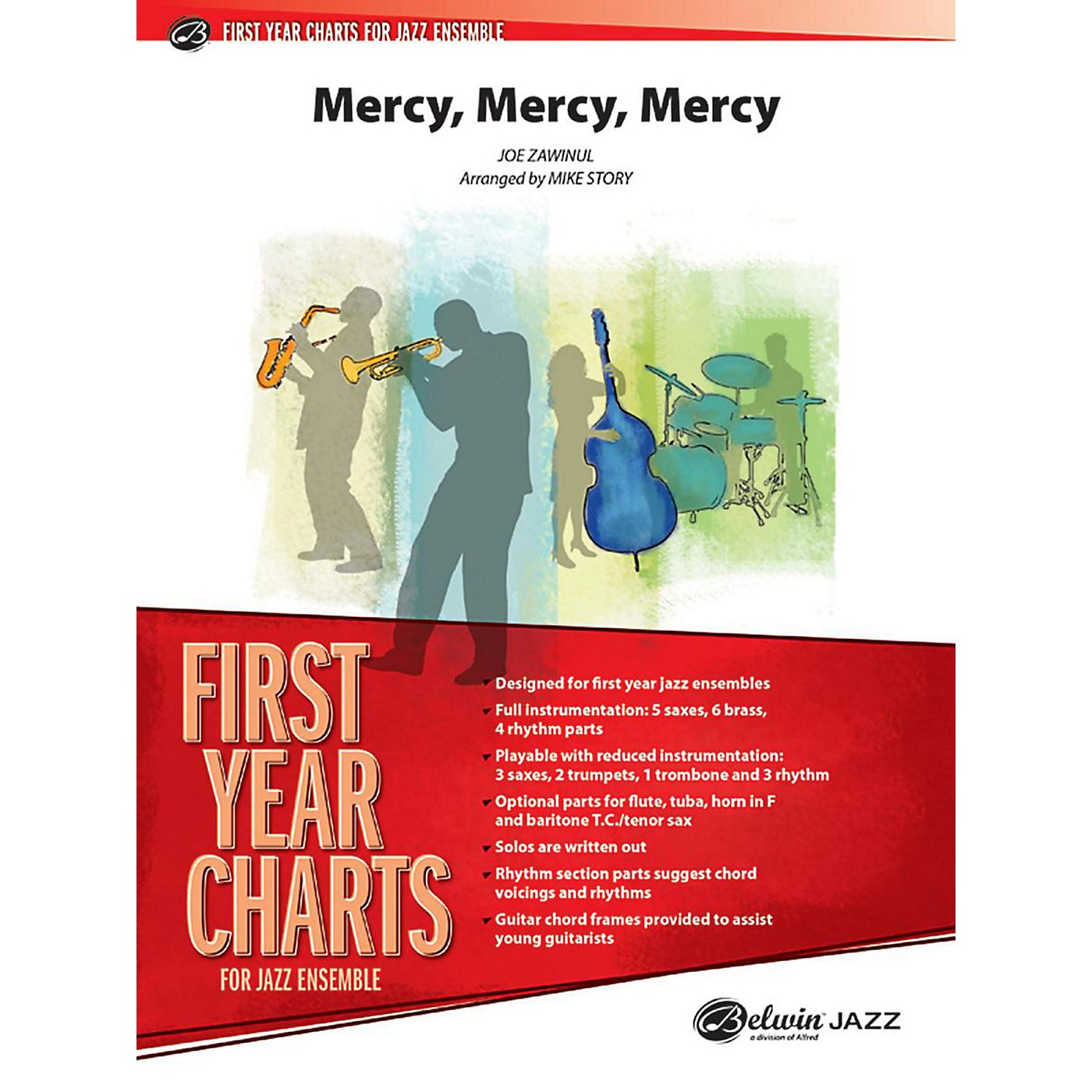 Alfred Mercy, Mercy, Mercy Jazz Band Grade 1 Set thumbnail