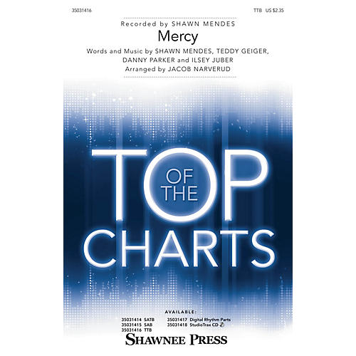 Shawnee Press Mercy TTB by Shawn Mendes arranged by Jacob Narverud thumbnail