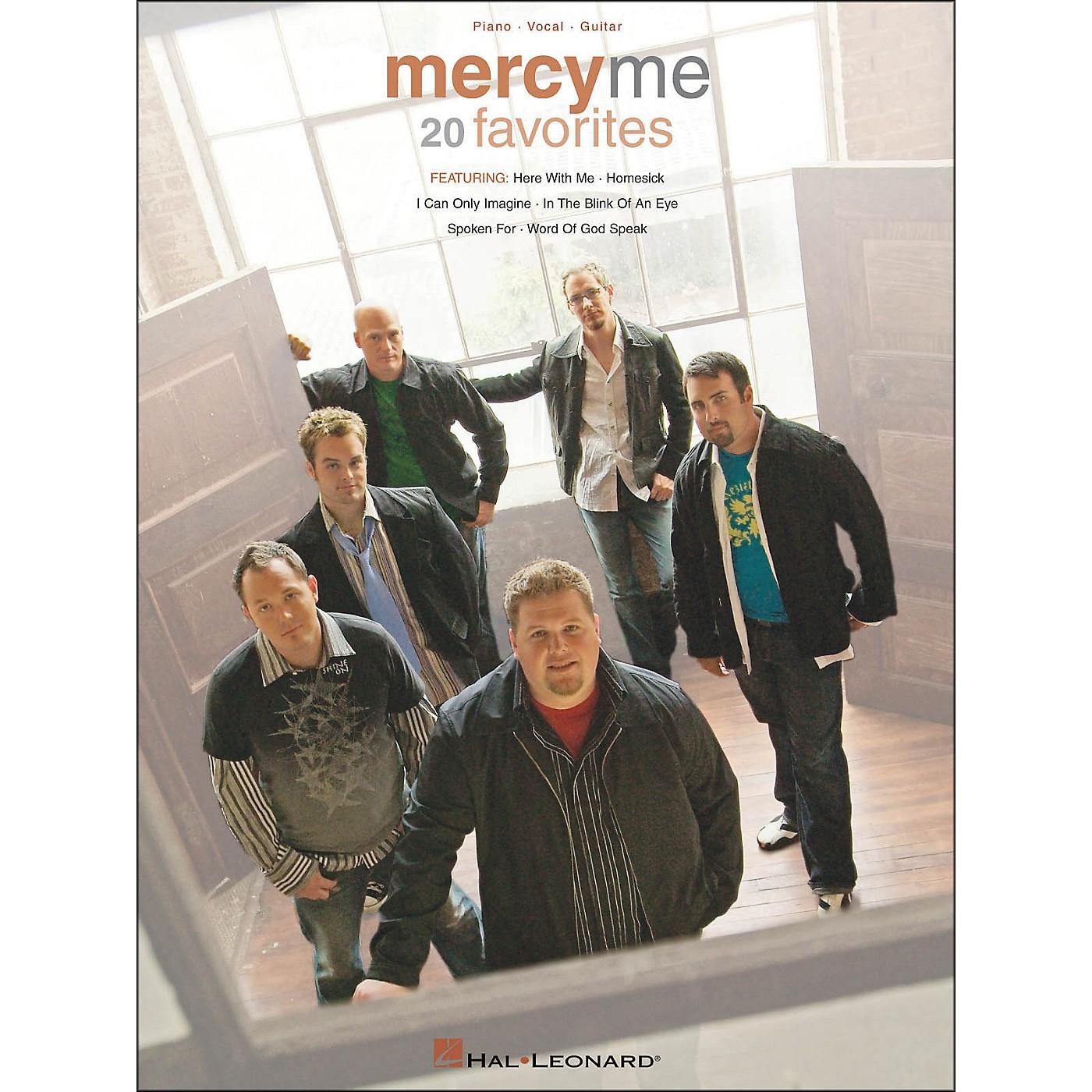 Hal Leonard MercyMe 20 Favorites Piano Vocal Guitar arranged for piano, vocal, and guitar (P/V/G) thumbnail