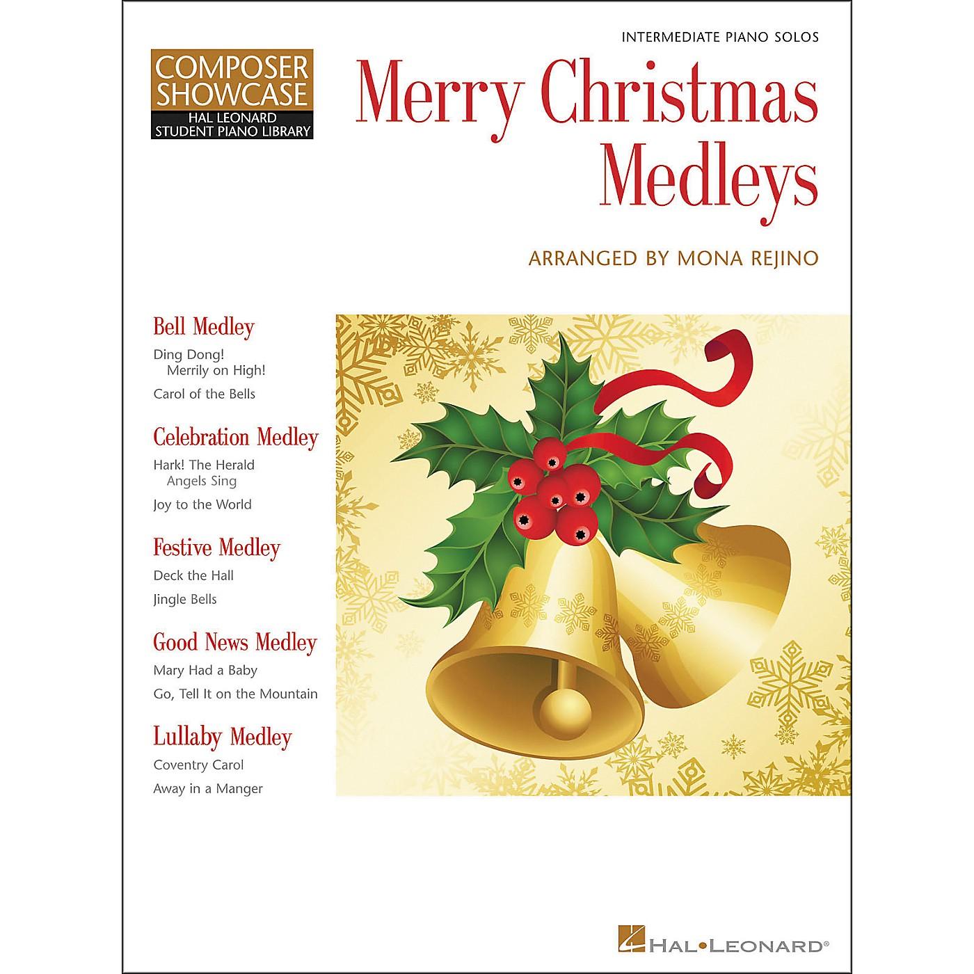 Hal Leonard Merry Christmas Medleys - Composer Showcase Intermediate Piano Solos Hal Leonard Student Piano Library by Mona Rejino thumbnail