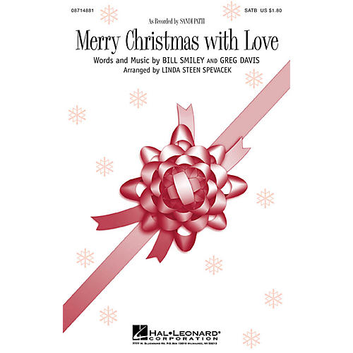 Hal Leonard Merry Christmas with Love SATB by Sandi Patti arranged by Linda Spevacek thumbnail