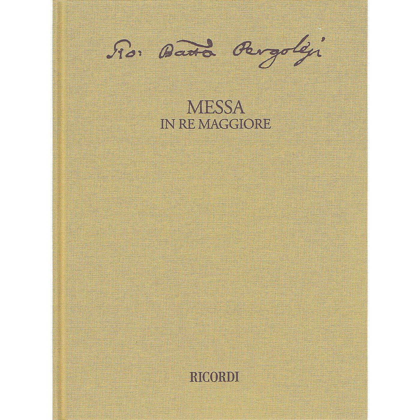 Ricordi Messa in re maggiore Critical Edition Full Score, Hardbound with Commentary Hardcover by Pergolesi thumbnail