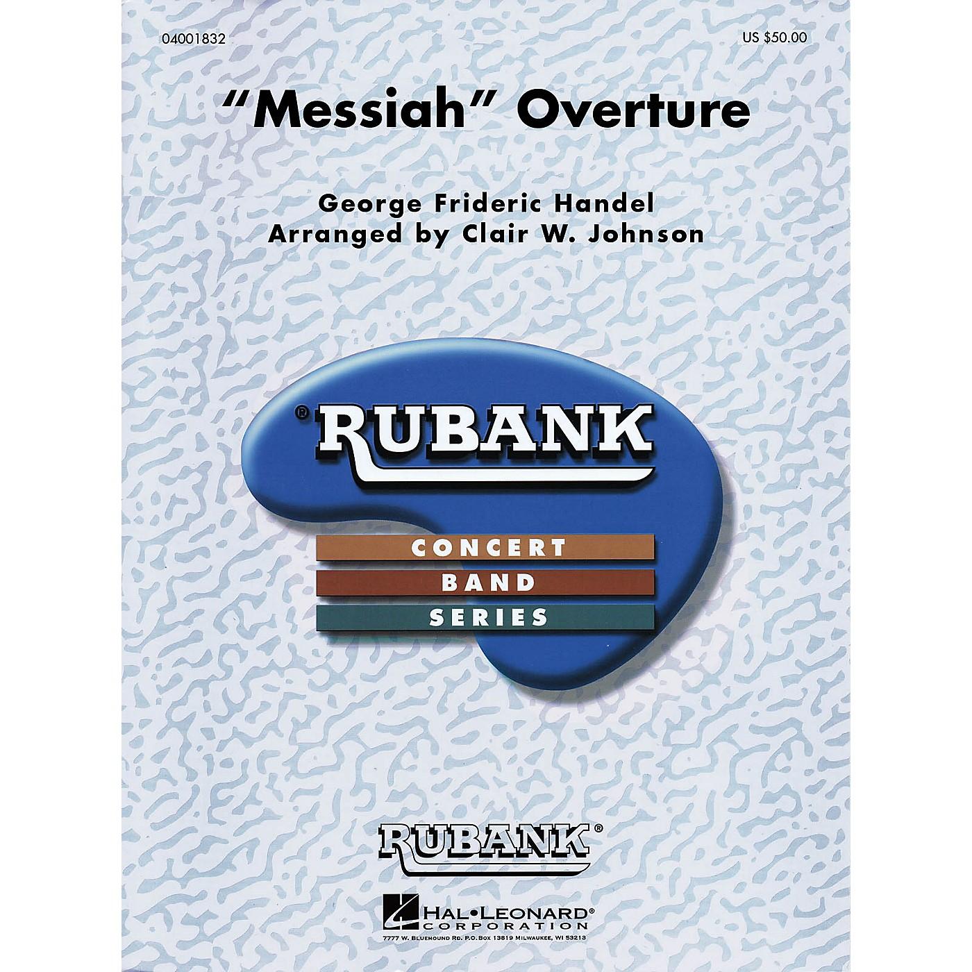 Hal Leonard Messiah Overture Concert Band Level 3 Arranged by Clair Johnson thumbnail