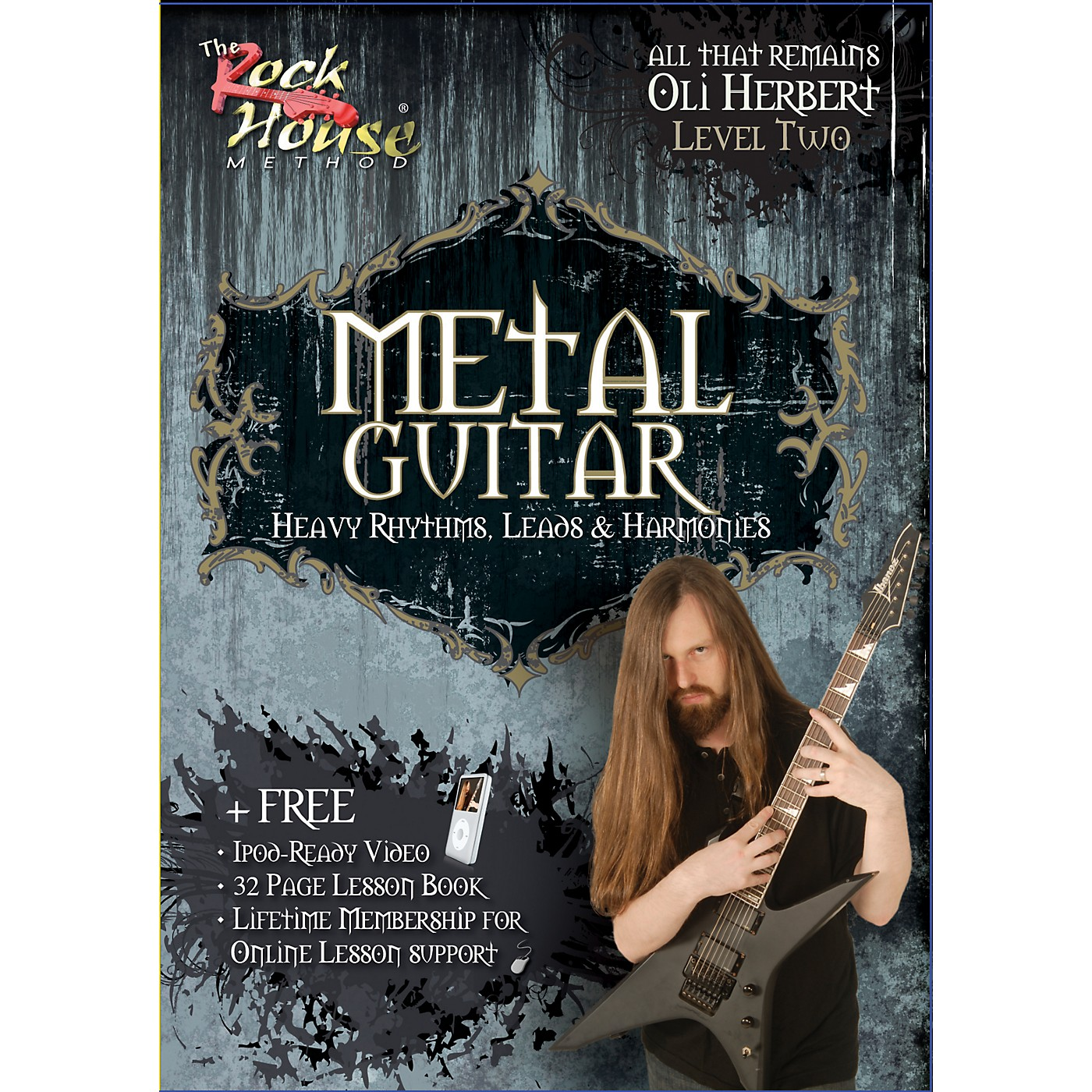 Hal Leonard Metal Guitar- Heavy Rhythms, Leads & Harmonies Level 2 with Oli Herbert of All That Remains (DVD) thumbnail