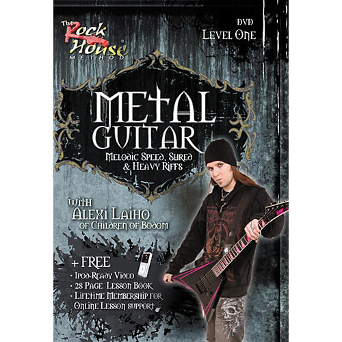 Rock House Metal Guitar, Melodic Speed, Shred & Heavy Riffs Level 1 with Alexi Laiho of Children of Bodom DVD thumbnail