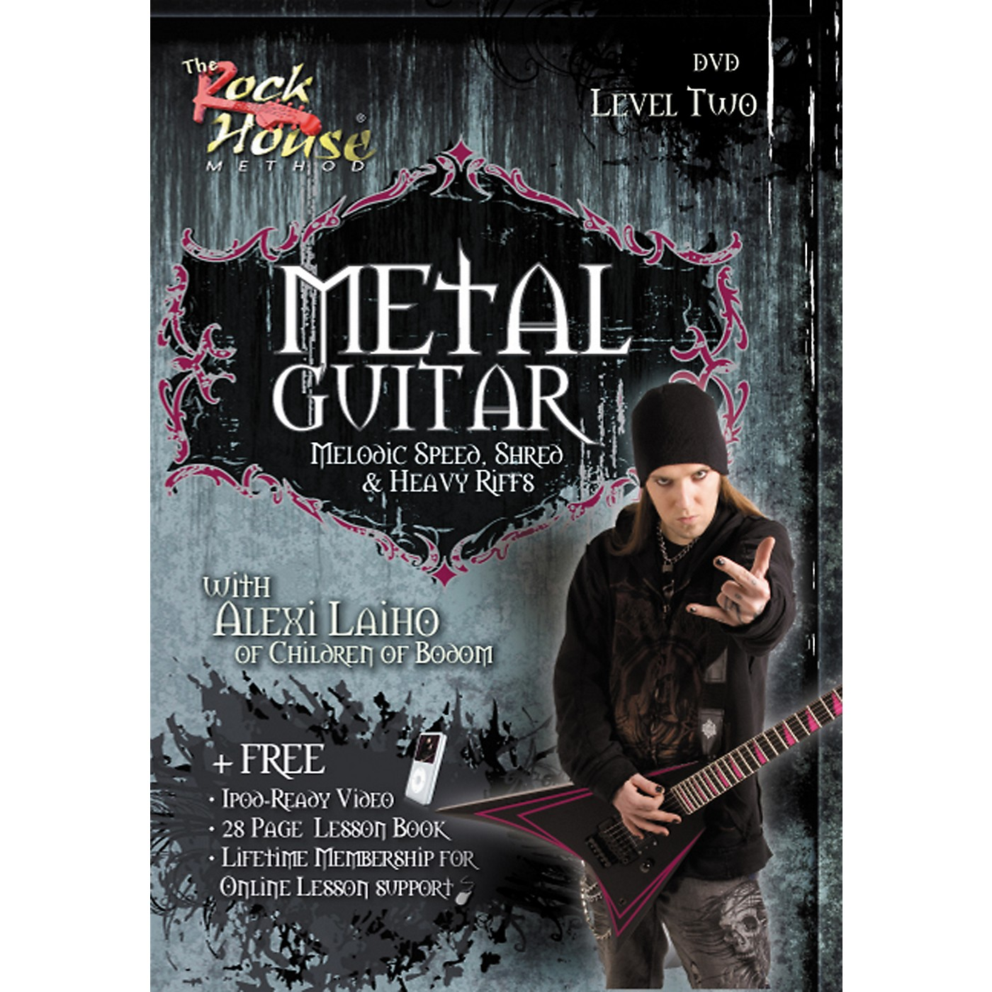 Hal Leonard Metal Guitar Melodic Speed, Shred & Heavy Riffs Level 2 With Alexi Laiho of Children of Bodom DVD thumbnail