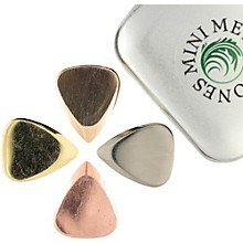 Timber Tones Metal Tones Mini-Mixed Tin of 4 Guitar Picks