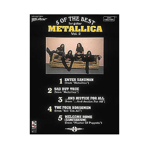 Cherry Lane Metallica - 5 of the Best for Guitar Volume 2 Book thumbnail
