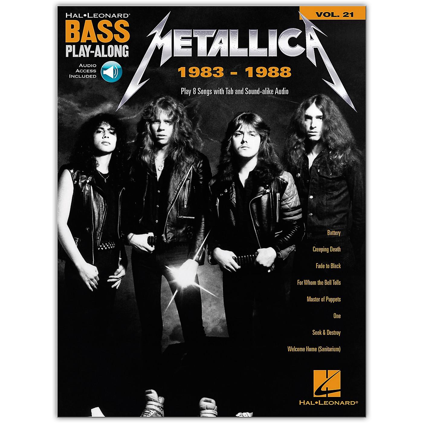 Hal Leonard Metallica: 1983-1988 Bass Play-Along Volume 21 Book/Audio Online thumbnail