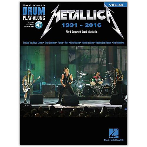 Hal Leonard Metallica: 1991-2016 Drum Play-Along 48 Book/Audio Online thumbnail