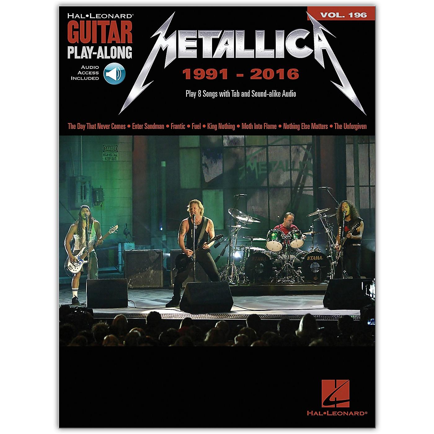 Hal Leonard Metallica: 1991-2016 Guitar Play-Along 196 Book/Audio Online thumbnail