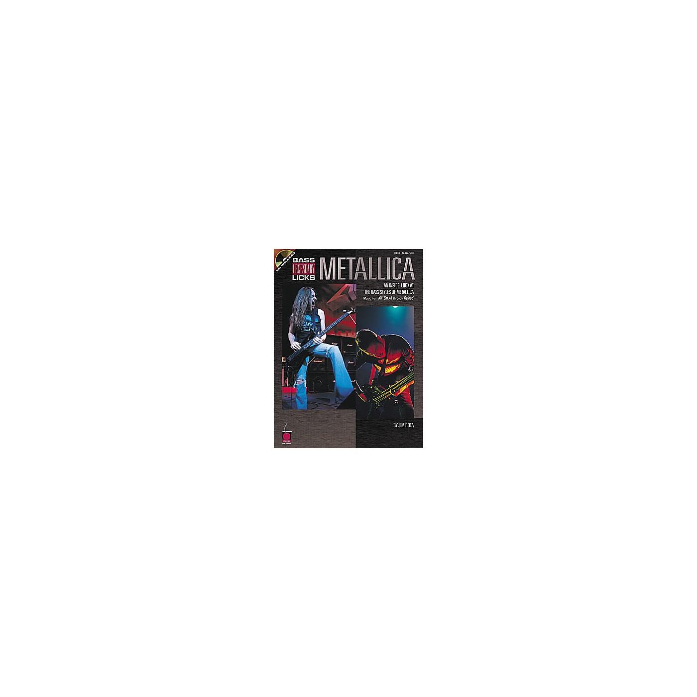 Cherry Lane Metallica Bass Guitar Legendary Licks Book with CD thumbnail