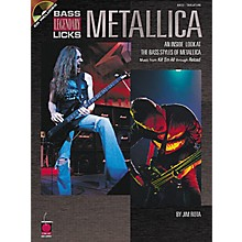 Cherry Lane Metallica Bass Guitar Legendary Licks Book with CD