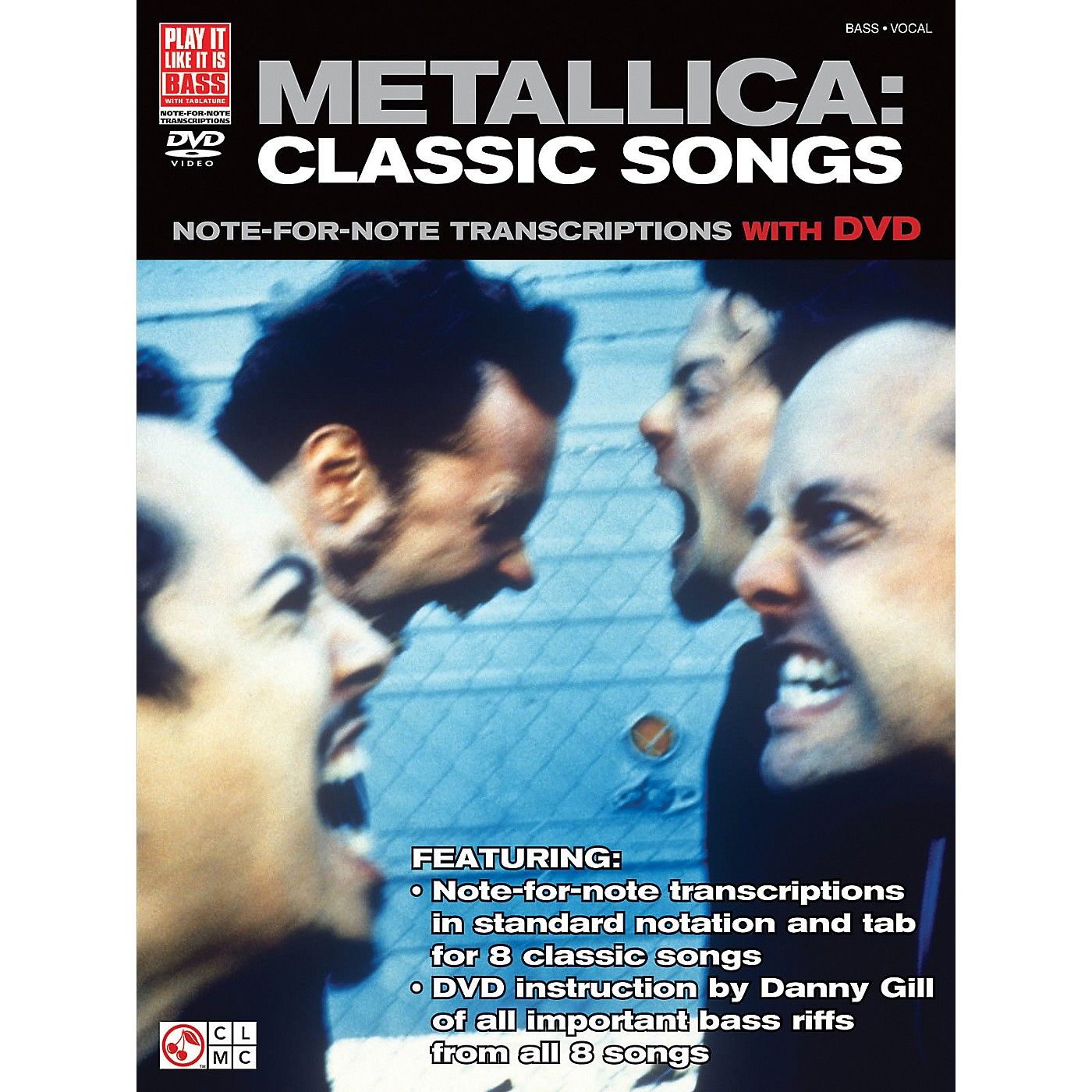 Cherry Lane Metallica Classic Songs For Bass - Note For Note Transcriptions with DVD thumbnail