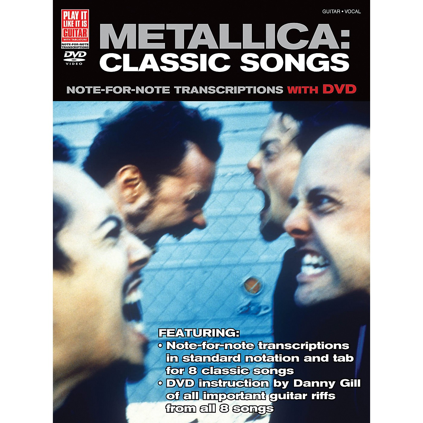 Cherry Lane Metallica Classic Songs For Guitar - Note For Note Transcriptions with DVD thumbnail