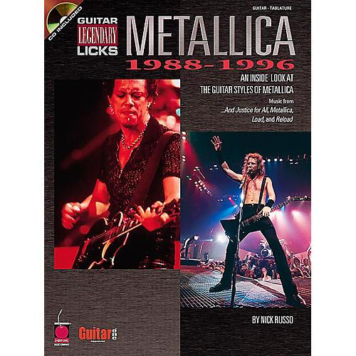 Cherry Lane Metallica Guitar Legendary Licks 1988-1996 Book with CD thumbnail