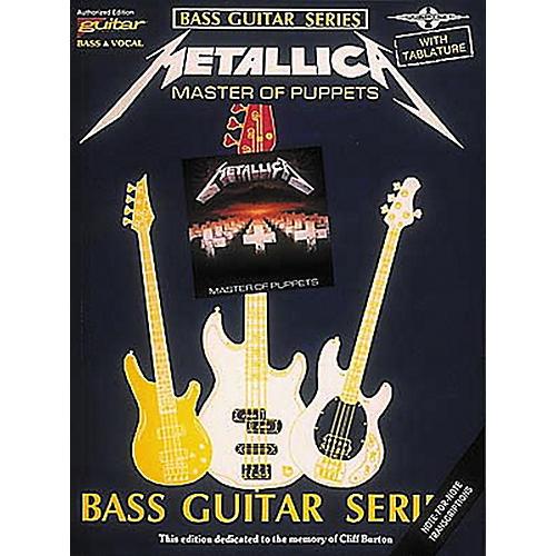 Hal Leonard Metallica Master of Puppets Bass Guitar Tab Songbook thumbnail