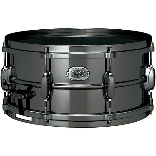 Tama Metalworks Nickel-Plated Black Steel Snare Drum-thumbnail