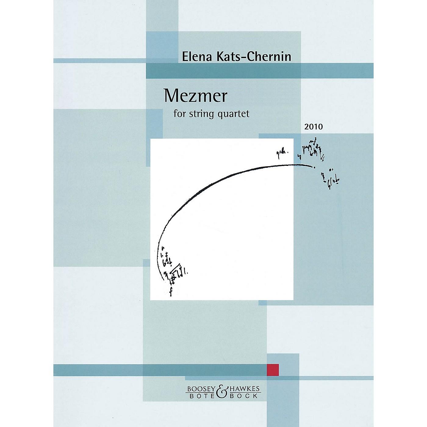 Bote & Bock Mezmer (2010) (for String Quartet) Boosey & Hawkes Chamber Music Series Softcover by Elena Kats-Chernin thumbnail