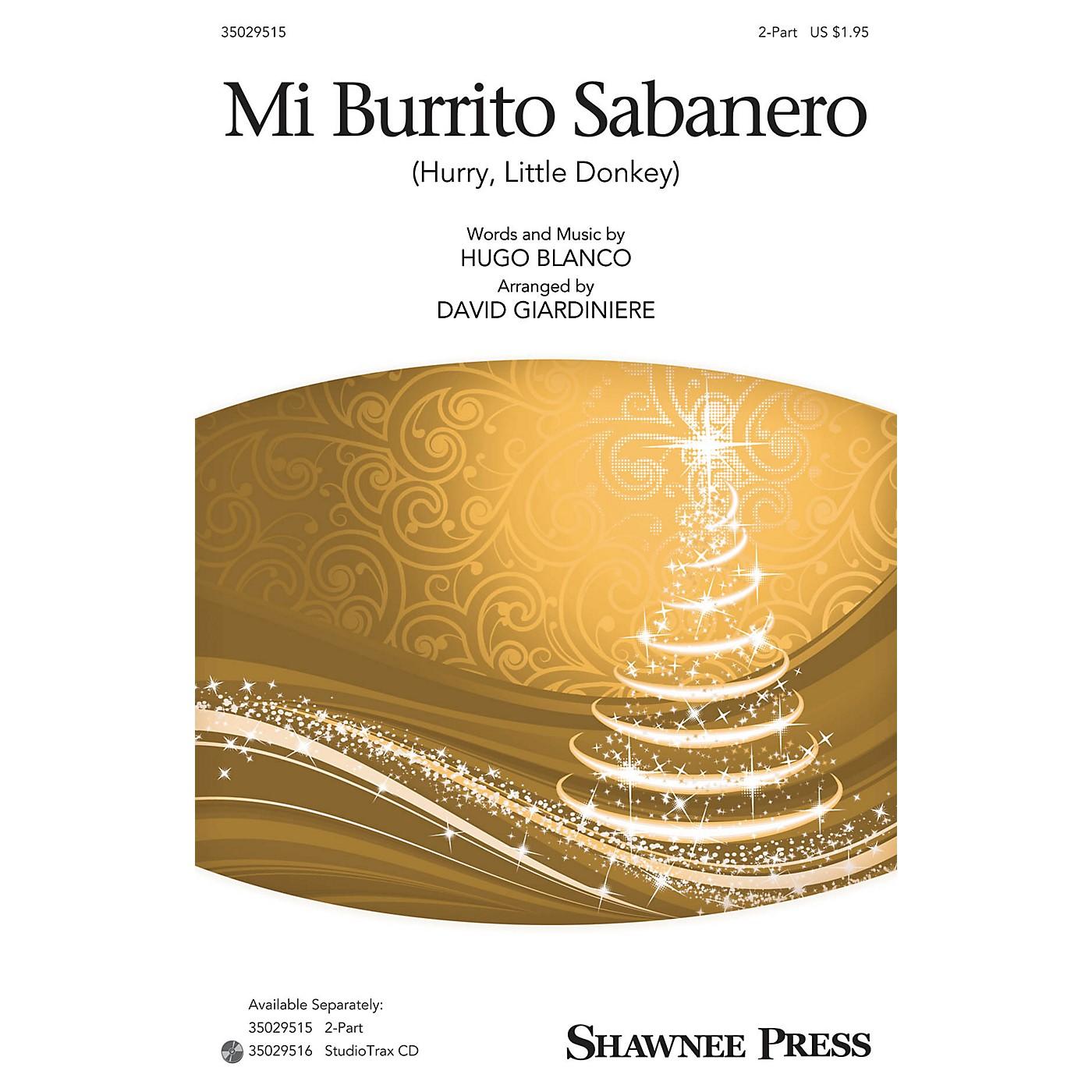 Shawnee Press Mi Burrito Sabanero (Hurry, Little Donkey) 2-Part arranged by David Giardiniere thumbnail