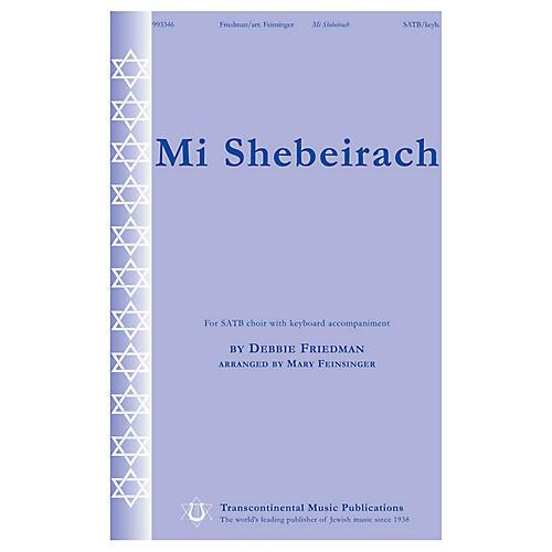 Transcontinental Music Mi Shebeirach SATB arranged by Mary Feinsinger thumbnail