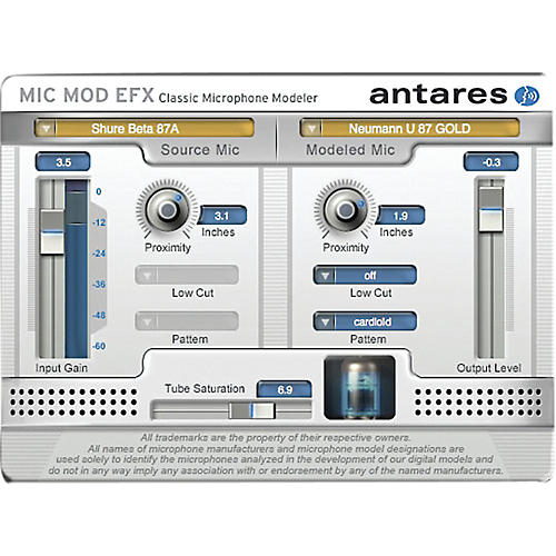 Antares Mic Mod EFX (VST/ AU/ RTAS) Software Download thumbnail