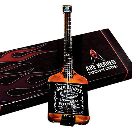 Axe Heaven Michael Anthony Jack Daniels Bass Miniature Guitar Replica Collectible thumbnail