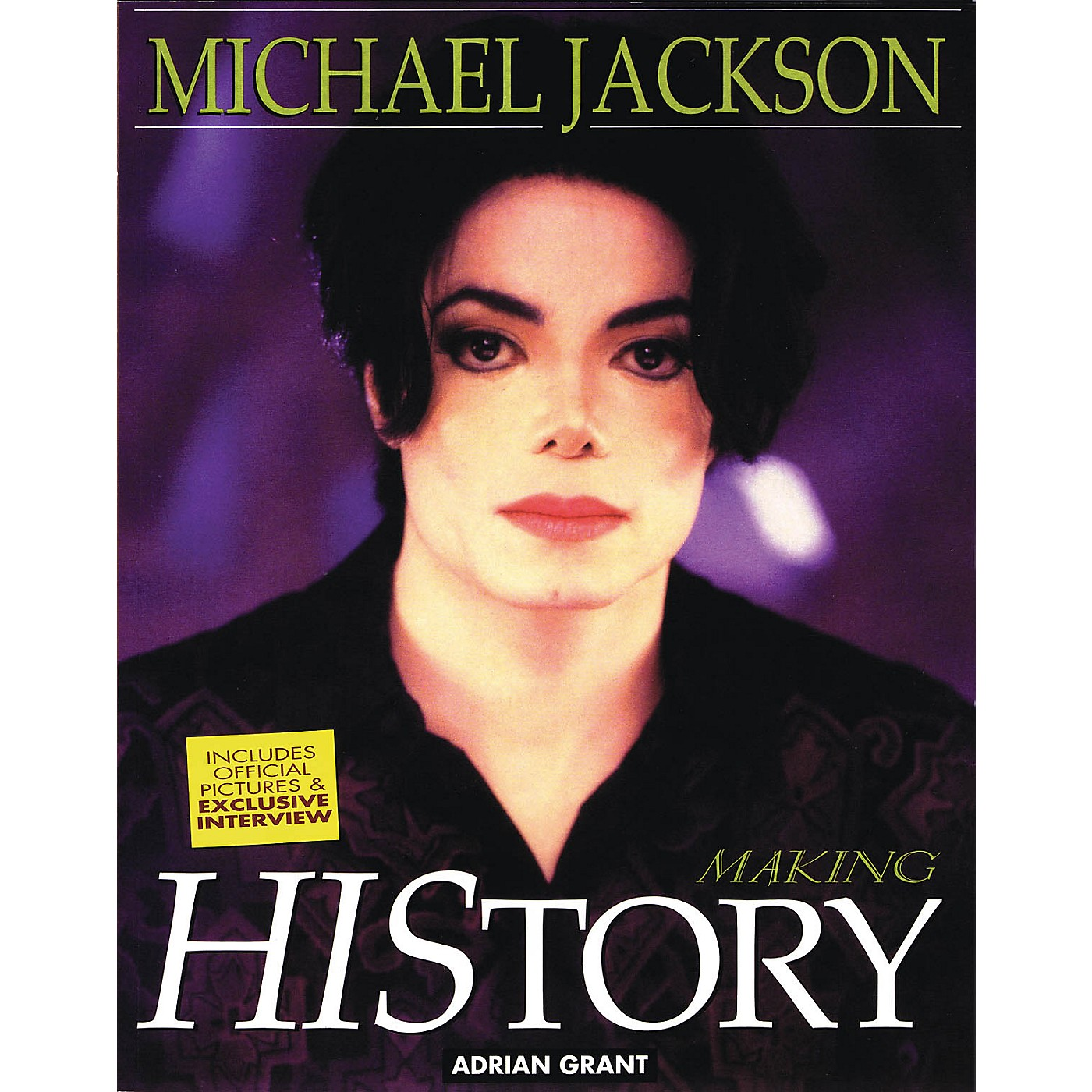 Omnibus Michael Jackson - Making History Omnibus Press Series Softcover Written by Adrian Grant thumbnail