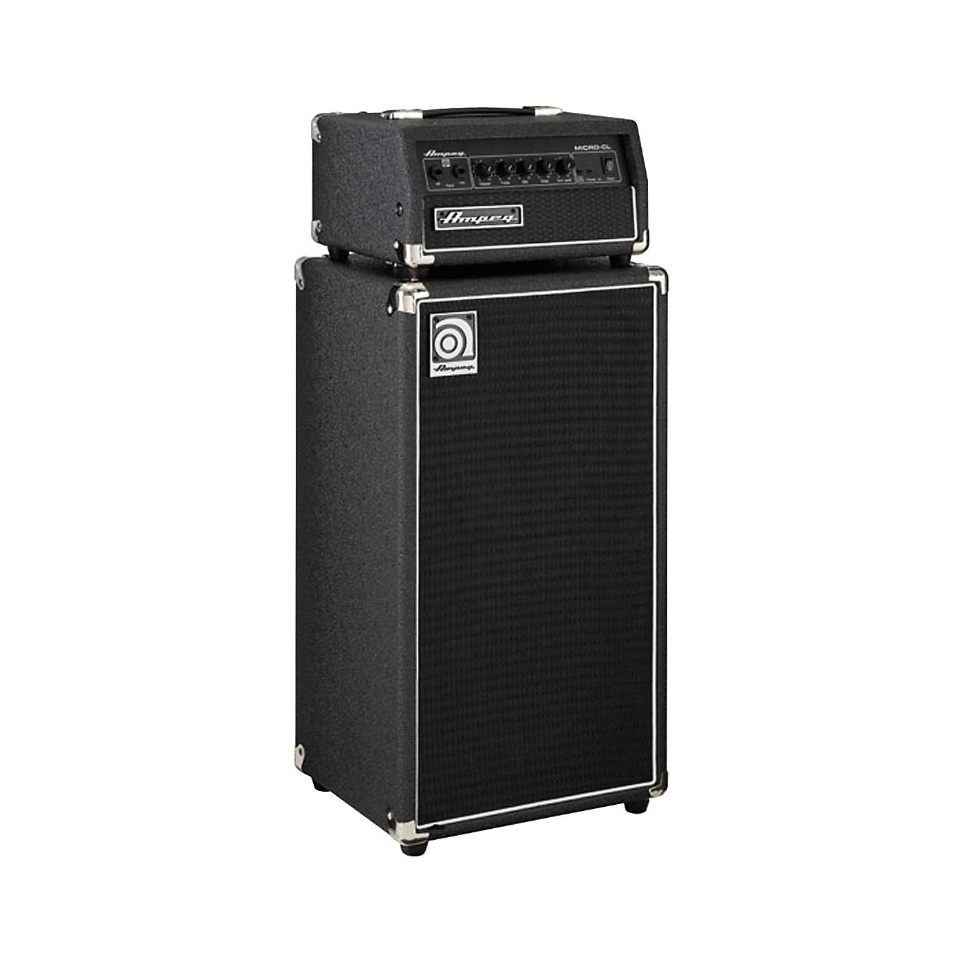Ampeg Micro-CL 100W 2x10 Mini Bass Stack Black thumbnail