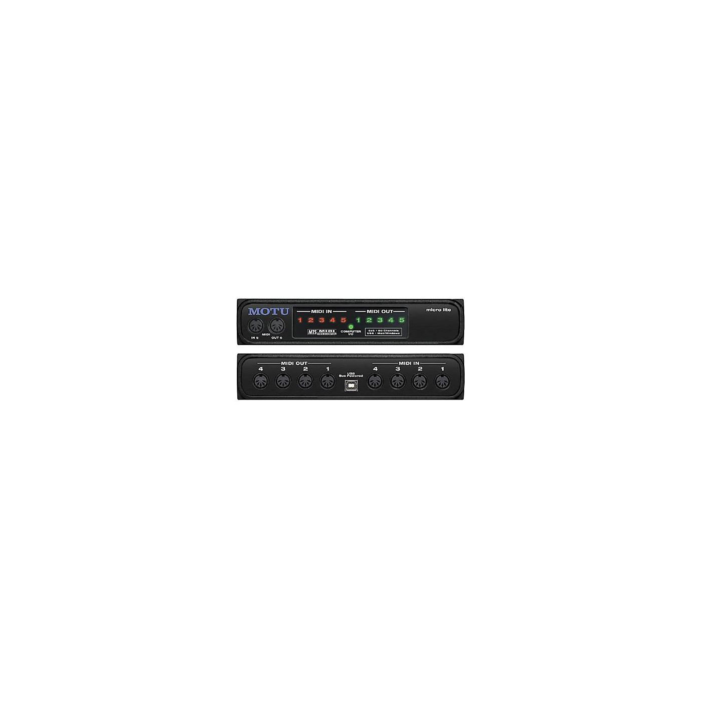 MOTU Micro Lite USB MIDI Interface thumbnail