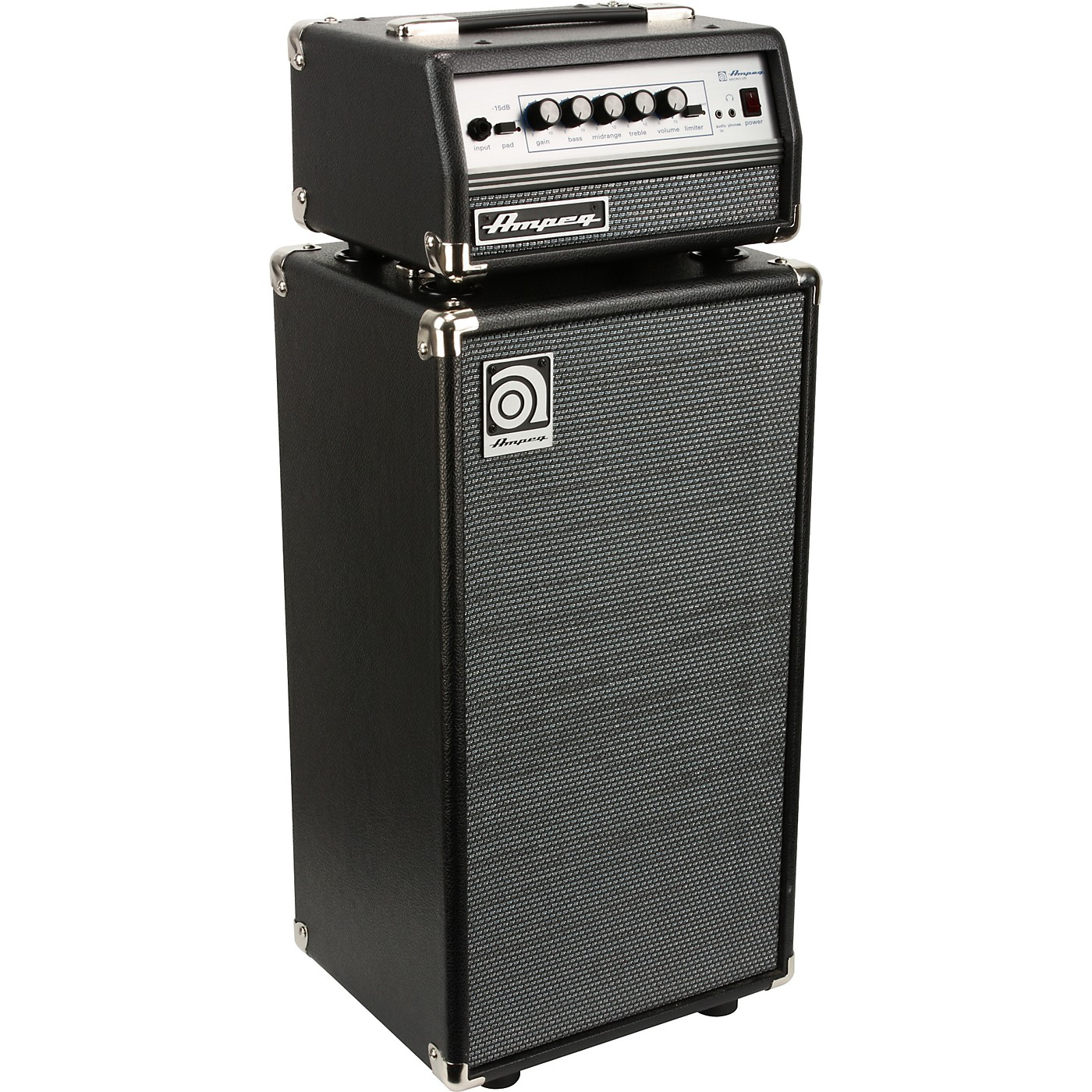 Ampeg Micro-VR Bass Amp Head and SVT210AV Bass Speaker Cabinet Stack thumbnail
