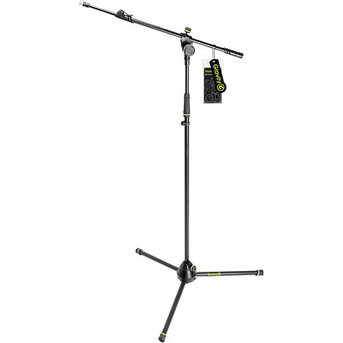 Gravity Stands Microphone Stand With Folding Tripod Base And 2-Point Adjustment Telescoping Boom - Heavy Duty thumbnail