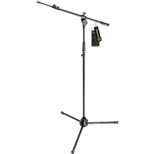 Gravity Stands Microphone Stand With Folding Tripod Base And 2-Point Adjustment Telescoping Boom thumbnail