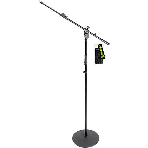 Gravity Stands Microphone Stand With Round Base and 2-Point Adjustment Telescoping Boom thumbnail