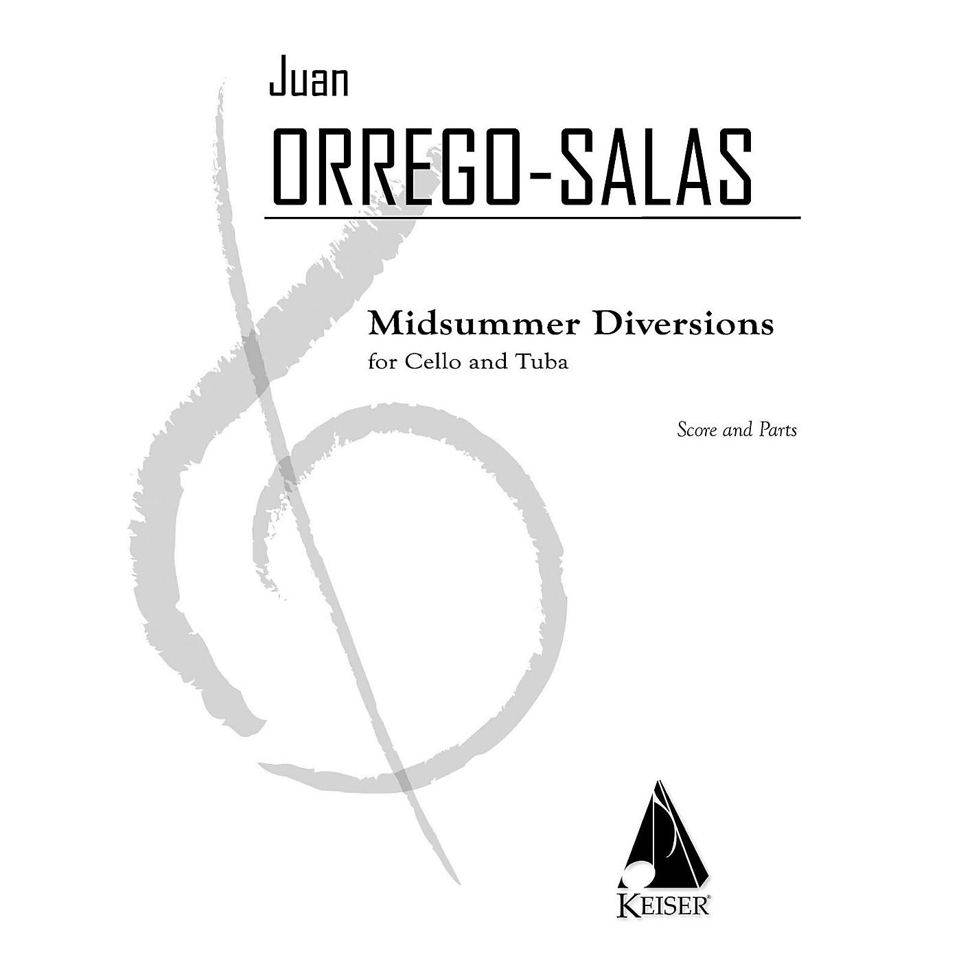 Lauren Keiser Music Publishing Midsummer Diversion, Op. 99 (for Tuba and Cello) LKM Music Series Composed by Juan Orrego-Salas thumbnail