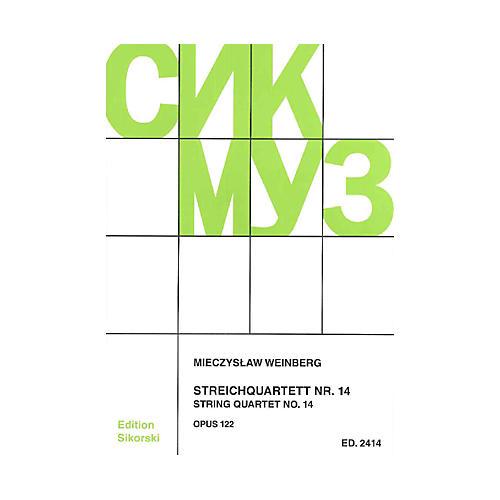 Sikorski Mieczslaw Weinberg - String Quartet No. 14, Op. 122 String Series Softcover by Mieczyslaw Weinberg thumbnail