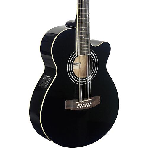 Stagg Mini-Jumbo Electro-Acoustic Cutaway 12-String Concert Guitar thumbnail