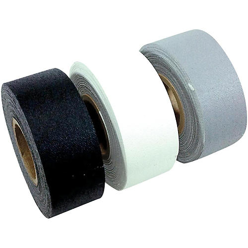 American Recorder Technologies Mini Roll Gaffers Tape 1 In x 8 Yards - Black, White, Gray thumbnail