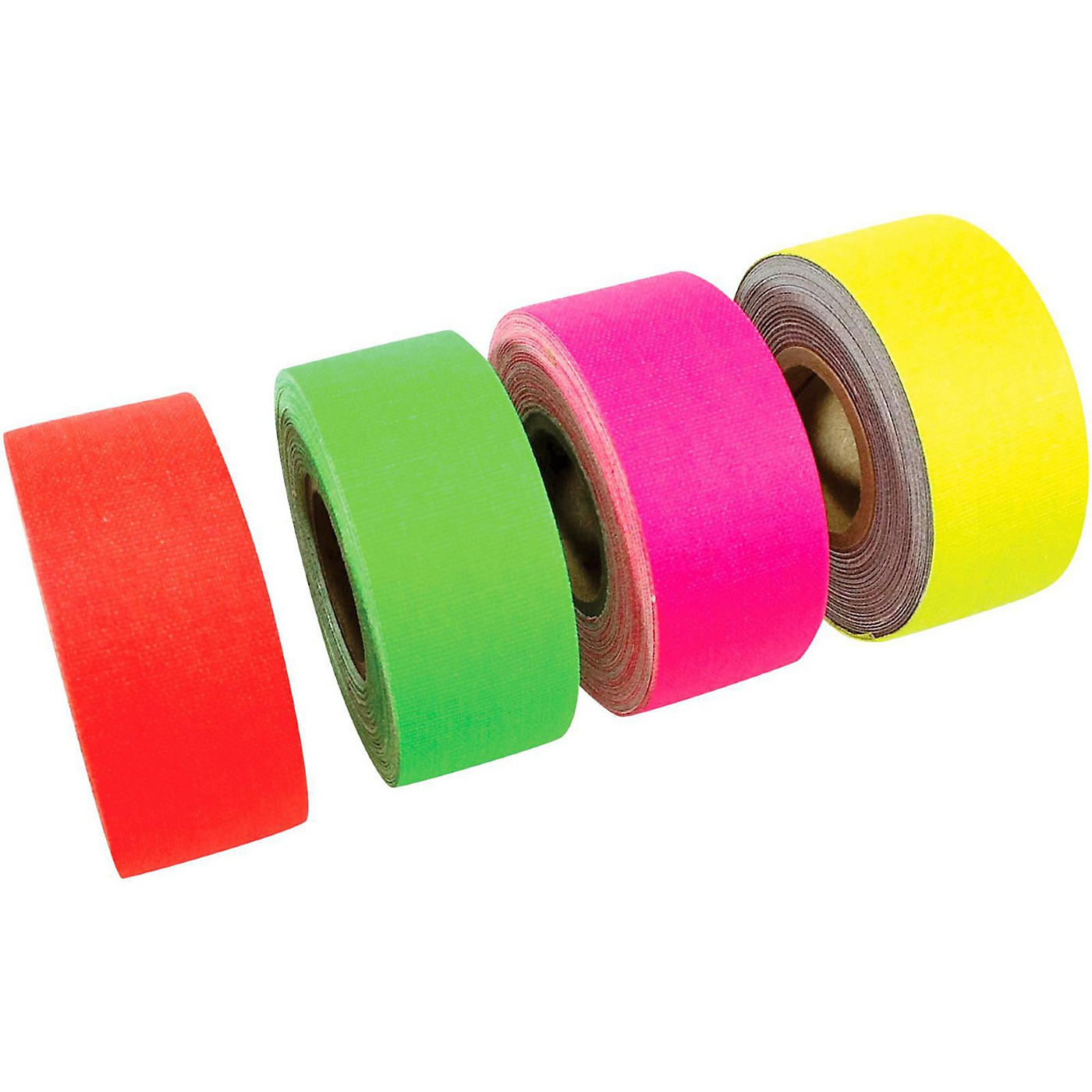 American Recorder Technologies Mini Roll Gaffers Tape 1 In x 8 Yards - Green, Yellow, Pink, Orange thumbnail