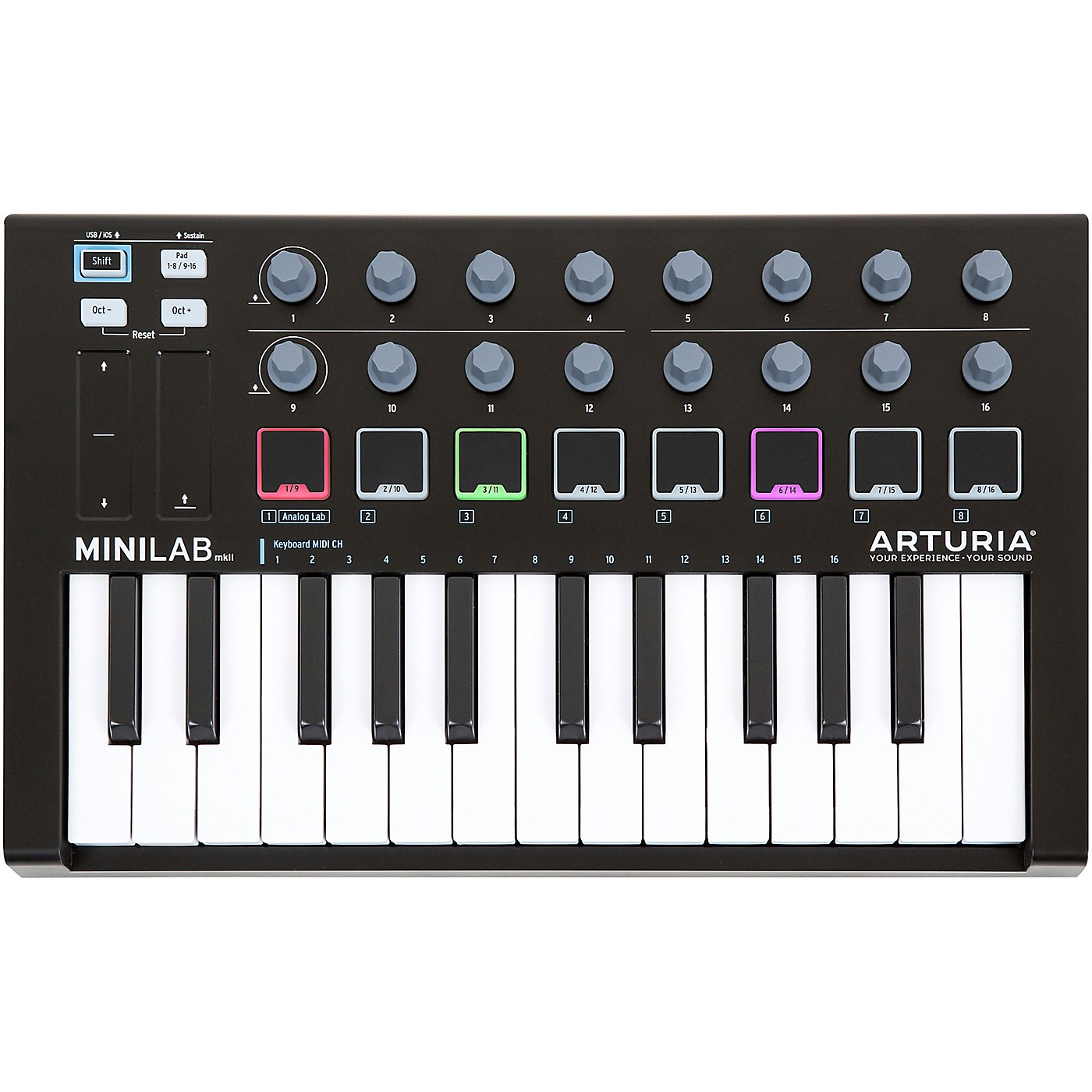 Arturia MiniLab MkII Keyboard Controller and Software Bundle Limited Black Edition thumbnail