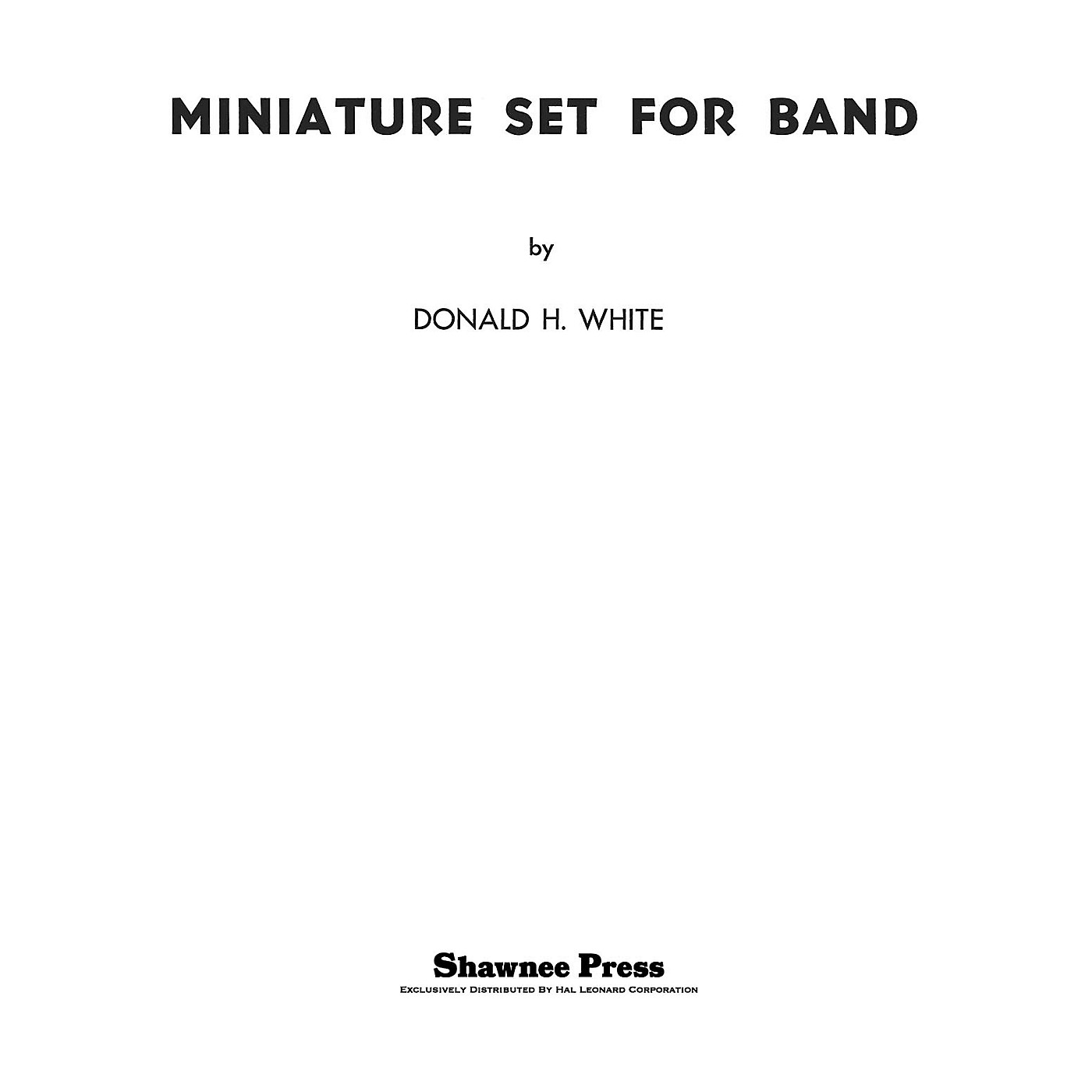 Shawnee Press Miniature Set for Band Concert Band Arranged by Donald thumbnail